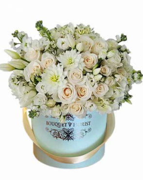 TIFFANY BLUE FLOWER BOX